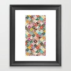 sarilmak patchwork Framed Art Print