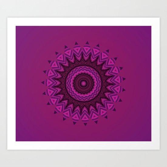 Deep purple mandala Art Print