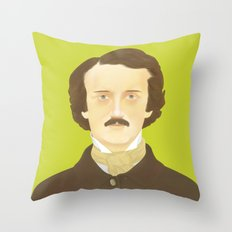 Poe-faced Throw Pillow