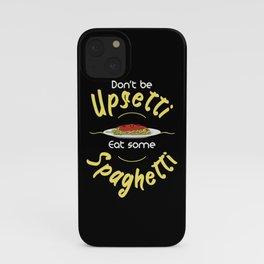 Eat Spaghetti Funny Pun iPhone Case