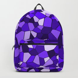 Violet Purple Blue Mosaic Pattern Backpack