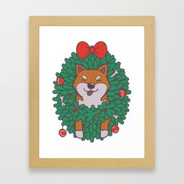 Hanging Through The Festive Season Framed Art Print
