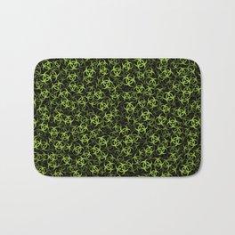 Biohazard (green on black) Bath Mat
