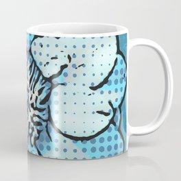 Altered Art Blue Dot Flower Special Digital Effect Coffee Mug