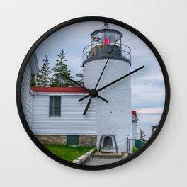 Bass Harbor Lighthouse Closeup Print Wall Clock