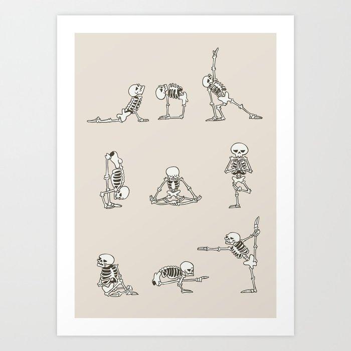 Skeleton Yoga Kunstdrucke