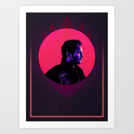 Peter Quill 80's Character Poster Art Print