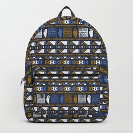 Hand Drawn Ancient Greek Bird Pattern Backpack