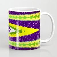brazil Mugs featuring BRAZIL CUP by Chrisb Marquez