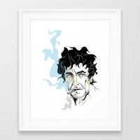 dylan Framed Art Prints featuring Dylan by Emilio Correa