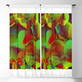 Vector abstract seamless background from space yellow and green bright circles and bubbles for fabri Blackout Curtain