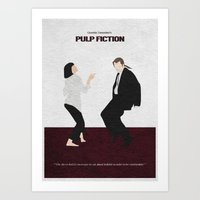 pulp fiction Art Prints featuring Pulp Fiction by A Deniz Akerman