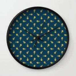 Distressed Pinapples Wall Clock