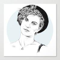 hayley williams Canvas Prints featuring Hayley Williams by najidsalihu
