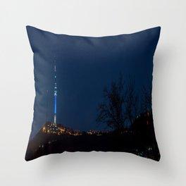 Seoul Tower at Night I Throw Pillow