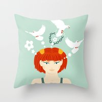 Mind Unchained Throw Pillow