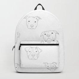 White pit bull love Backpack