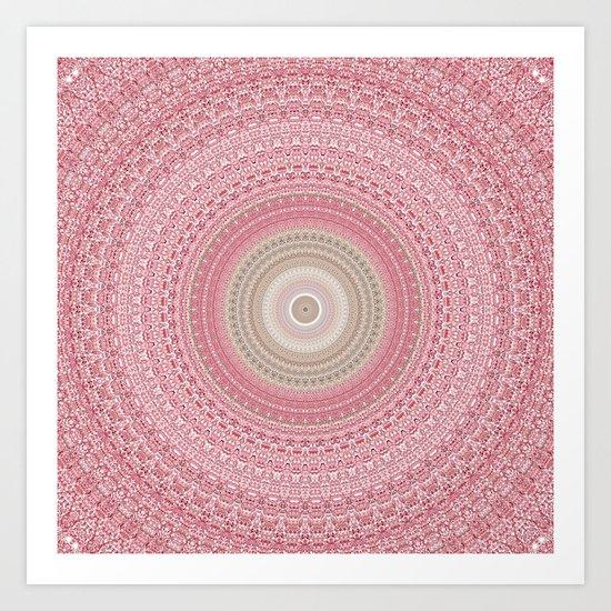 Gold Rose and Blush Boho Mandala by artaddiction45