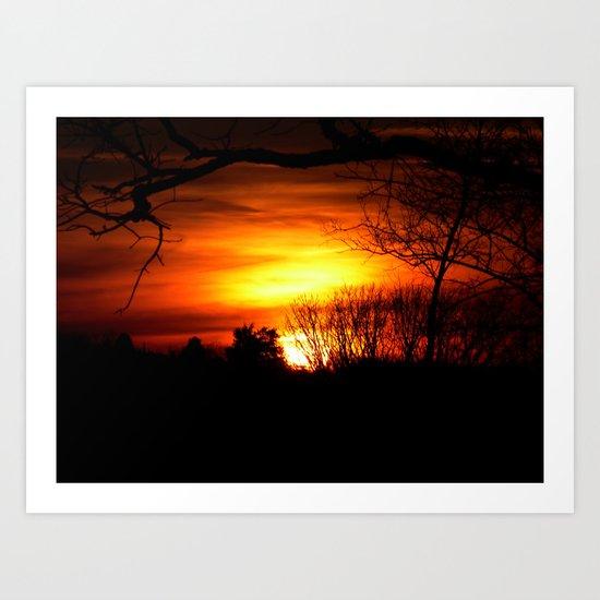 sunset v Art Print