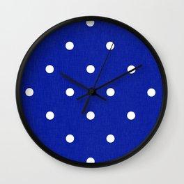 Dotty Blue Wall Clock