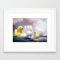 thegnarledbranch Framed Art Prints featuring Terror on the High Seas II by TheGnarledBranch
