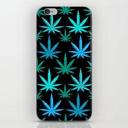 Marijuana Teal Turquoise Weed iPhone Skin