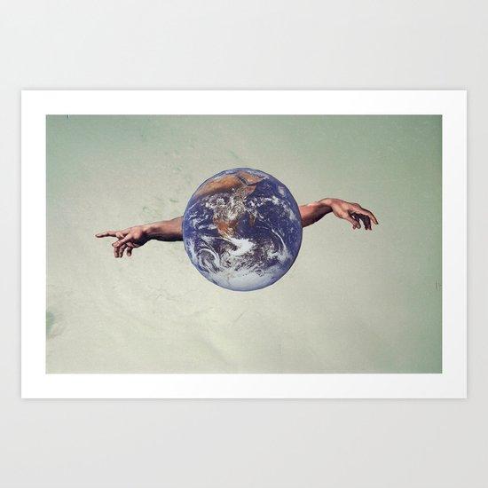 the world holds no limits  Art Print