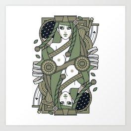Eva Queen of Club - Pyrrha Art Print