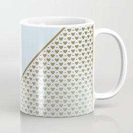 Heartless 2 - Aqua + Brass Coffee Mug