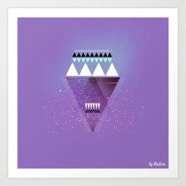 GALAXY TRIANGLE Art Print