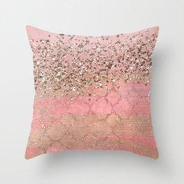 Pink Moroccan Princess Throw Pillow