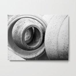 Soft lines, hard surface Metal Print