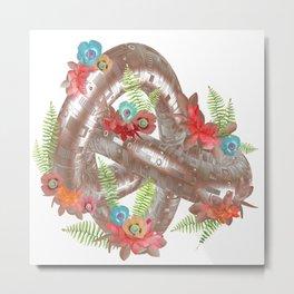 Elegant Rose Gold Metal Geometric Knot Metal Print