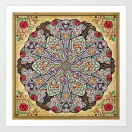 Mandala Elephants Art Print