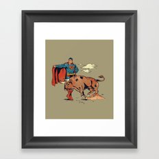 Matador of Steel Framed Art Print