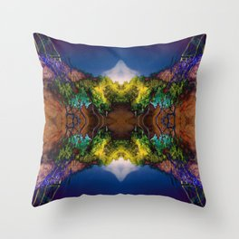 Acid-land. Throw Pillow