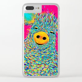 Percy the Pig Clear iPhone Case