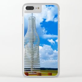 Pops in Blue Sky Clear iPhone Case
