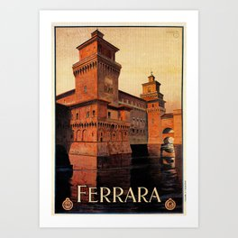 Castello Estense Ferrara Italy Art Print