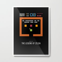 Minimal NES - The Legend of Zelda Metal Print