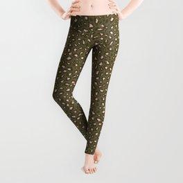 Leopard Print 2.0 - Olive Green Leggings