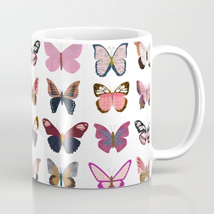 Pink Butterflies Kaffeebecher