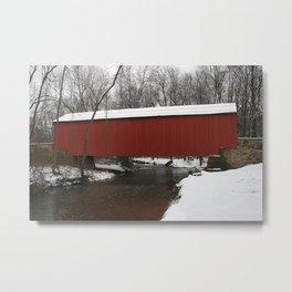 Cabin Run Covered Bridge Metal Print