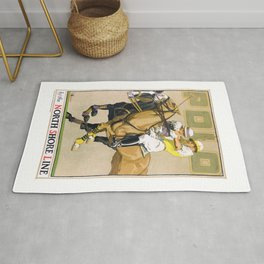 1923 Polo By The North Shore Line Transit Poster Rug