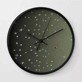 Pluto is on the Edge of the Solar System Wall Clock