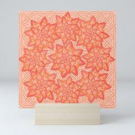 Celtic tones in peach Mini Art Print