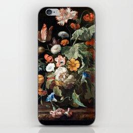 Still Life Flower Painting by Rachel Ruysch iPhone Skin