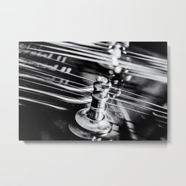 Strings Attached an electric guitar abstract Metal Print