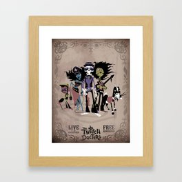 The Twitch Doctors - Gig Poster Framed Art Print