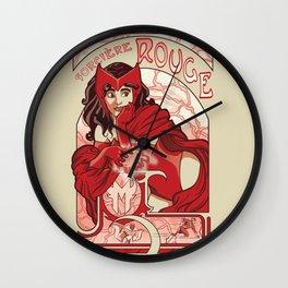Sorcière Rouge Wall Clock